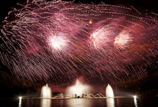 The Electro Night Fountains Show